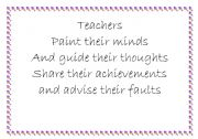 English Worksheets: quotes about teachers for your boards