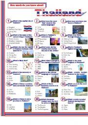 English Worksheet: Thailand