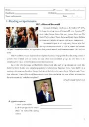 English Worksheets: Leo, citizen of the world