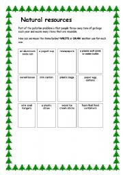Printables Natural Resources Worksheet english teaching worksheets natural resources resources