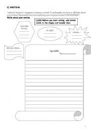 English Worksheets: Routine-WRITING