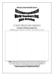English Worksheets: Writing competition