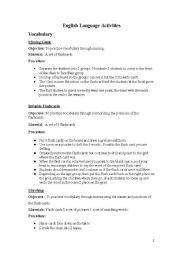 English Worksheets: English language activities