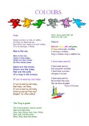 English Worksheet: poems about colours)))