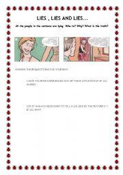 English Worksheets: LIES- PART 2