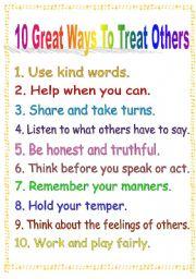 English Worksheet: Classroom Poster