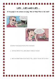 English Worksheets: LIES- PART 3