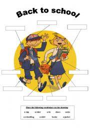 English Worksheet: SCHOOL UNIFORMS VOCABULARY