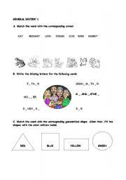 English worksheet: general review