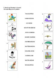 English Worksheets: ADVENTURE SPORTS 2 OF 4