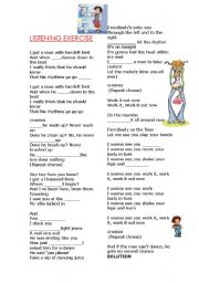 English Worksheet: Simple Present song:
