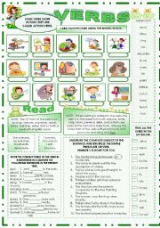 English Worksheets: VERBS