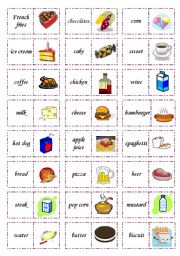 English Worksheets: Let�s play dominoes! Set 1: Food