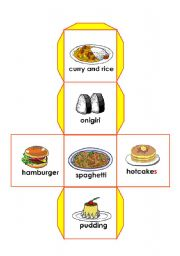 English Worksheets: food dice 3/3