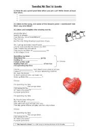 English Worksheet: Spending my time (by Roxette)
