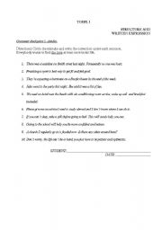 English Worksheets: TOEFL EXERCISES Articles