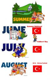English Worksheet: seasons and holidays for TURKEY 2