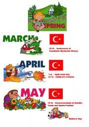 English Worksheet: seasons and holidays for TURKEY 3