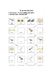 English Worksheets: Do you want some more?