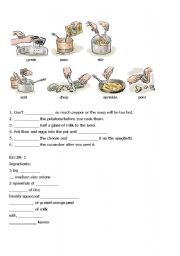 English Worksheet: preparing meals