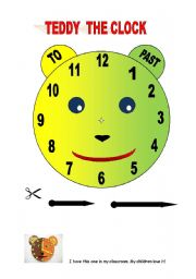 English Worksheet: Teddy the Clock
