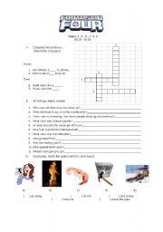 English worksheet: FANTASTIC FOUR2