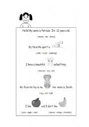 English Worksheets: CIrcle the correct word to complete the text.