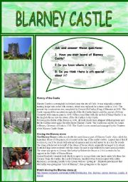 English Worksheet: Blarney Castle