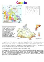 Vocabulary worksheets > Countries and nationalities > Canada > Canada ...