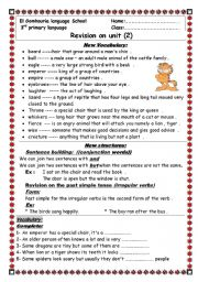 English worksheet: unit 2 macmillam 3