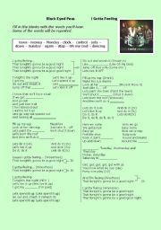 English Worksheets: Black Eyed Peas - I GOTTA FEELING