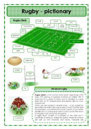 English Worksheet: Rugby - pictionary