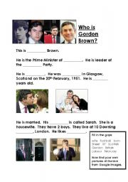 English Worksheets: Gordon Brown 1