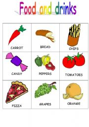 English Worksheet: Food and drinks flashcards 2/4