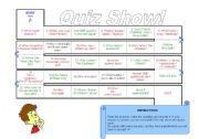 English Worksheet: Subject Object Questions Board Game