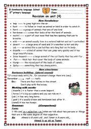 English Worksheets: revision sheets on unit 4 macmillam 3