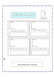 English Worksheets: Game HANGMAN