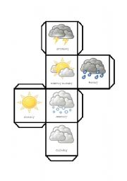 English Worksheets: DICE - weather