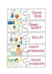 English Worksheet: Greetings puzzle