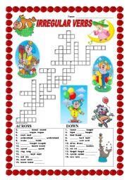 Irregular verbs - crossword