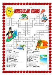 Irregular verbs - crossword - No. 2