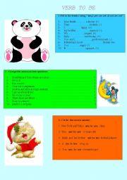 English worksheet: To be worksheet
