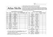 english worksheets atlas skills. Black Bedroom Furniture Sets. Home Design Ideas