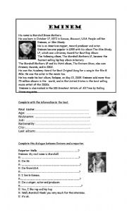 English Worksheets: Eminem