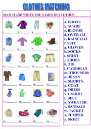 english teaching worksheets clothes. Black Bedroom Furniture Sets. Home Design Ideas