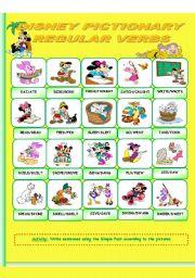 English Worksheet: Disney Pictionary_ Irregular verbs