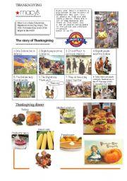 English Worksheet: THANKSGIVING
