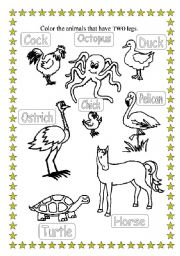 English Worksheets: Learning by Painting -1-