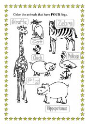 English Worksheets: Learning by Painting -2-