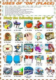 English Worksheet: USES OF
